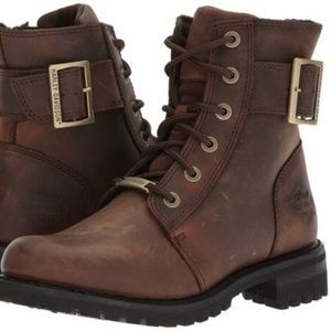 NWT Harley Davidson Brown Riding Lace Leather Boot